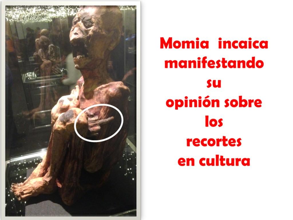 Momia inca protesta